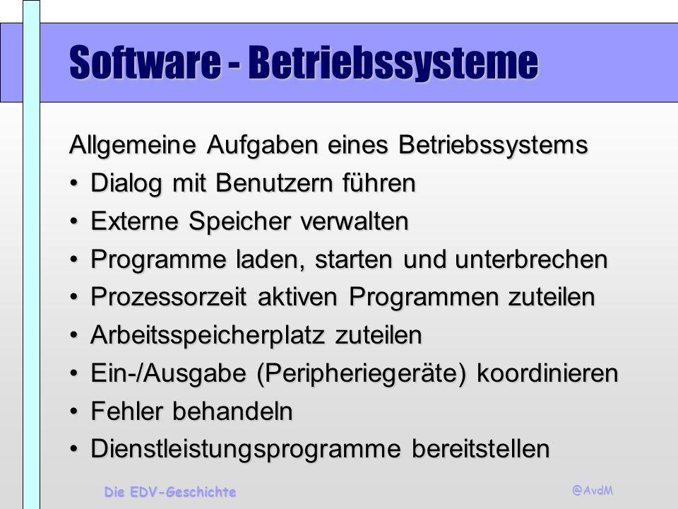 Software - Betriebssysteme