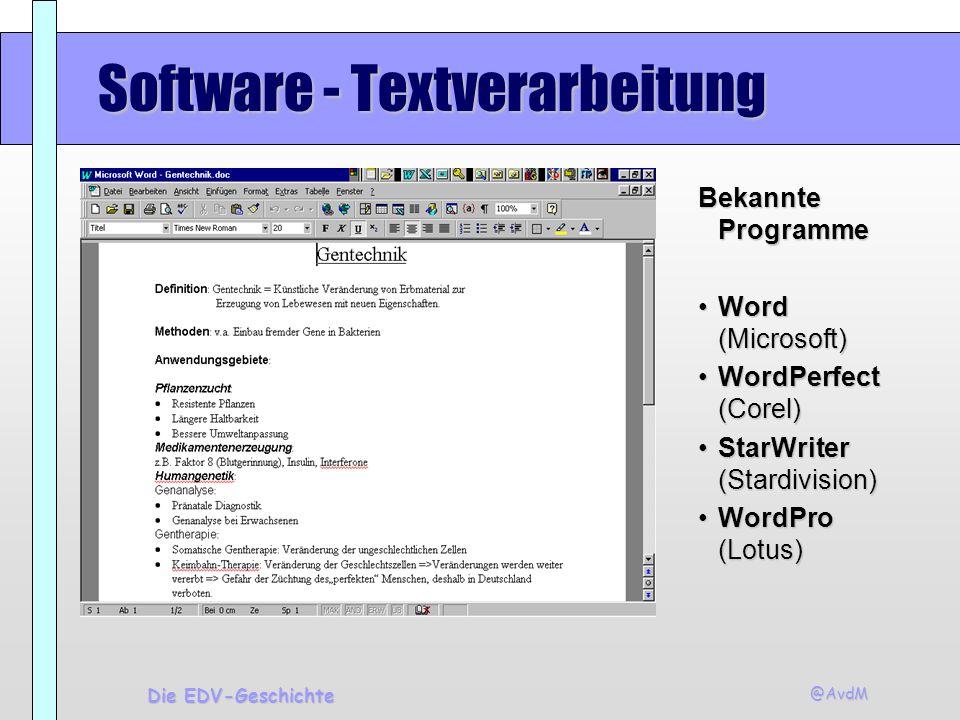 Software - Textverarbeitung