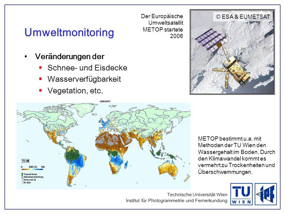 Umweltmonitoring Veränderungen der Schnee- und Eisdecke