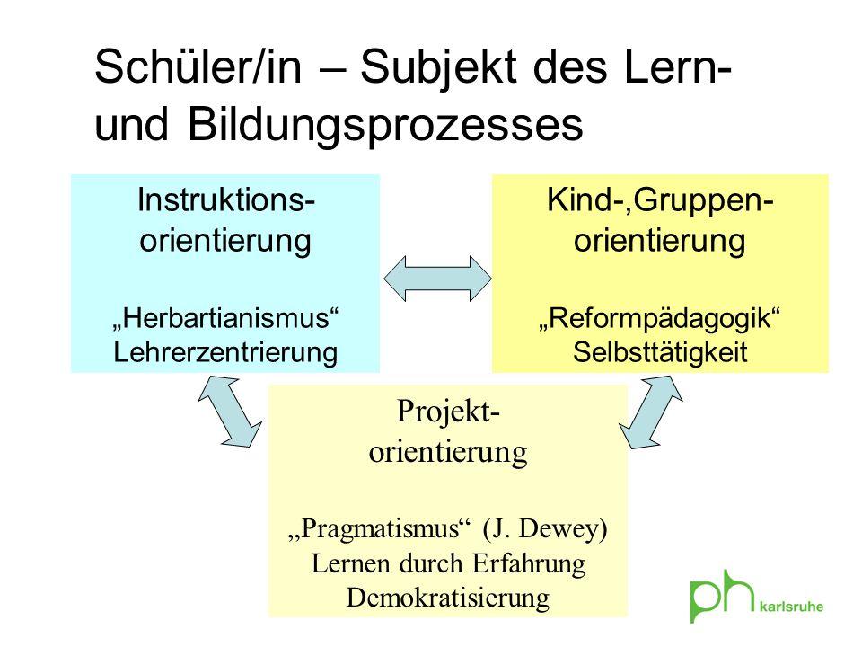 Schüler/in – Subjekt des Lern- und Bildungsprozesses
