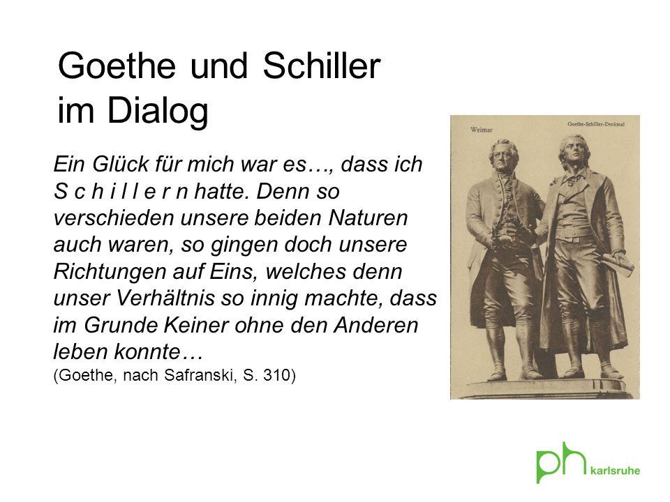 Goethe und Schiller im Dialog