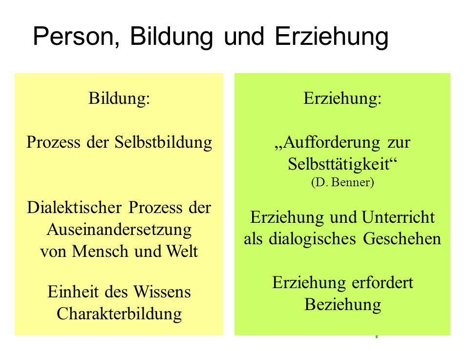 Person, Bildung und Erziehung