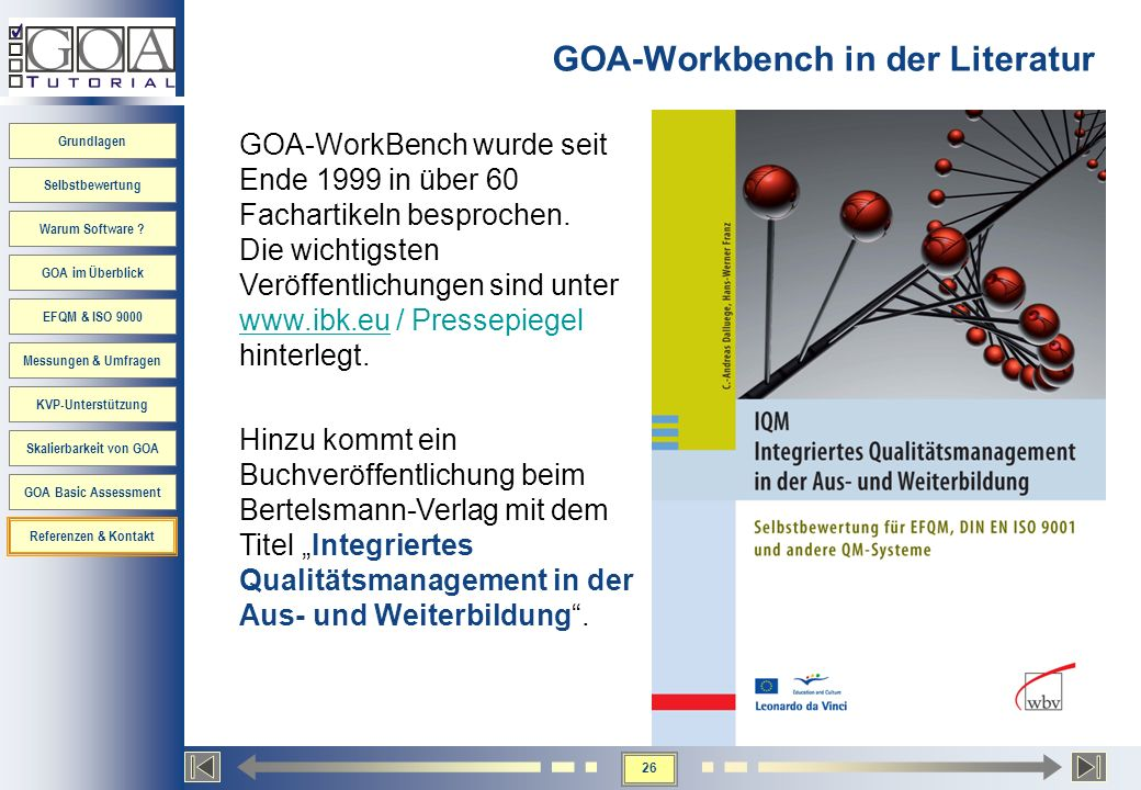 GOA-Workbench in der Literatur