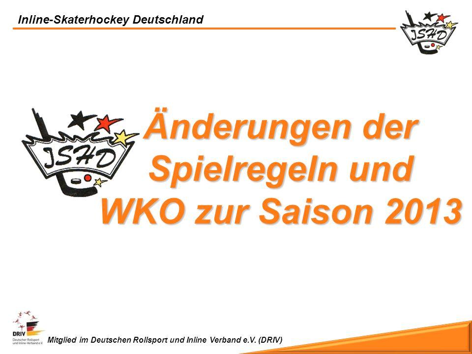 Änderungen der Spielregeln und WKO zur Saison 2013