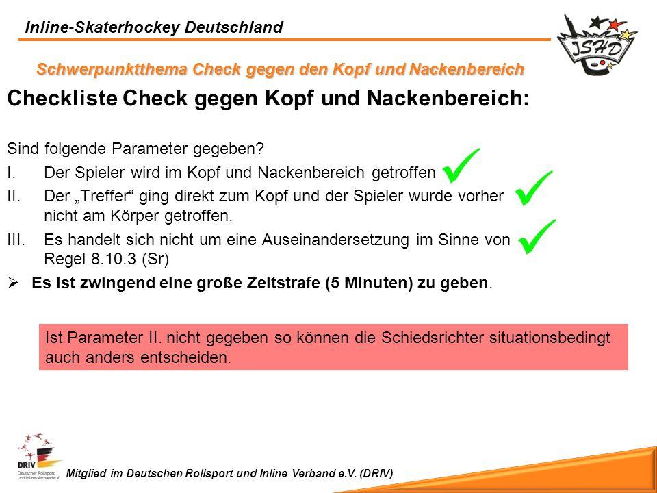 Checkliste Check gegen Kopf und Nackenbereich: