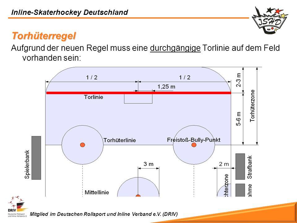 Torhüterregel Aufgrund der neuen Regel muss eine durchgängige Torlinie auf dem Feld vorhanden sein: