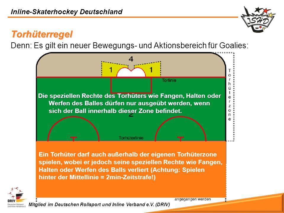 Torhüterregel Denn: Es gilt ein neuer Bewegungs- und Aktionsbereich für Goalies: