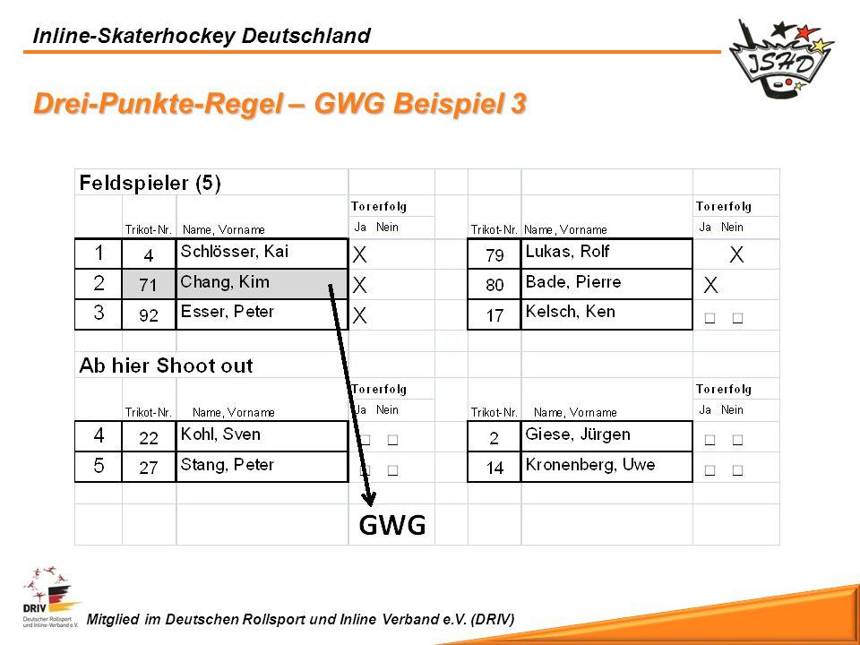 Drei-Punkte-Regel – GWG Beispiel 3