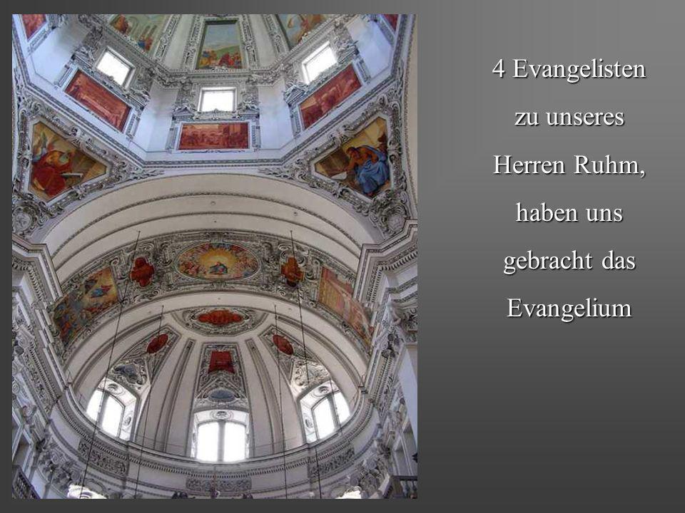4 Evangelisten zu unseres Herren Ruhm, haben uns gebracht das Evangelium