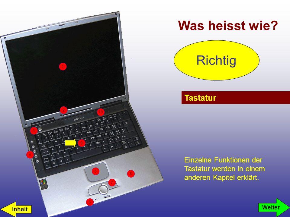 Was heisst wie Richtig Tastatur