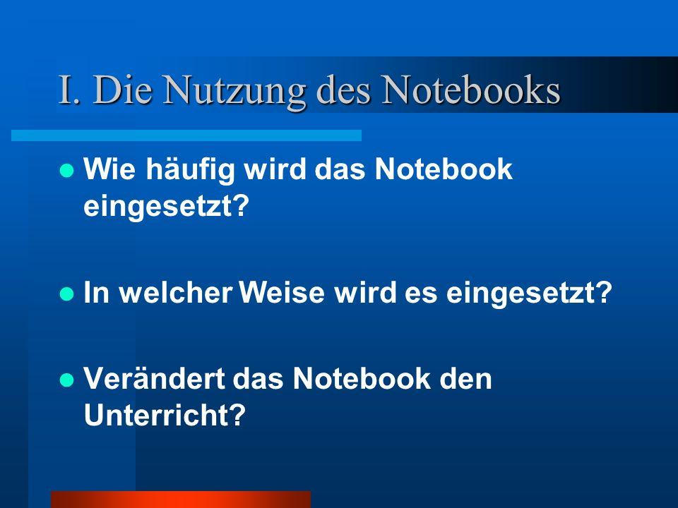 I. Die Nutzung des Notebooks