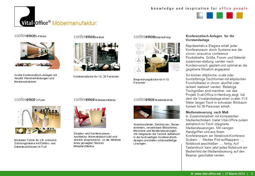 Möbelmanufaktur: Konferenztisch-Anlagen für die Vorstandsetage