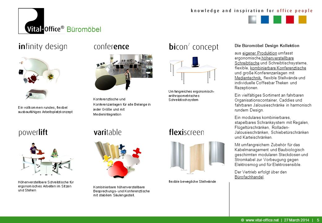 Die Büromöbel Design Kollektion