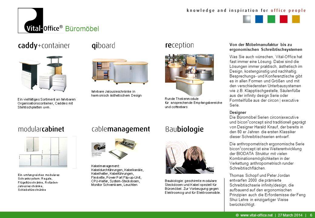 Von der Möbelmanufaktur bis zu ergonomischen Schreibtischsystemen