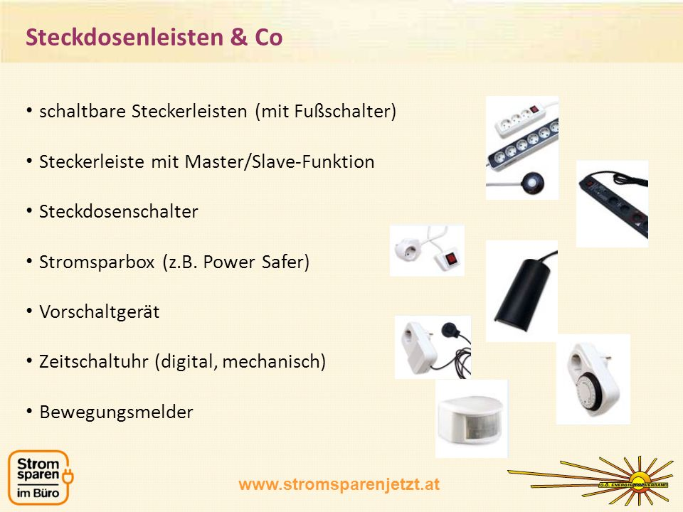 Steckdosenleisten & Co