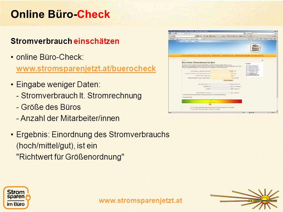 Online Büro-Check Stromverbrauch einschätzen