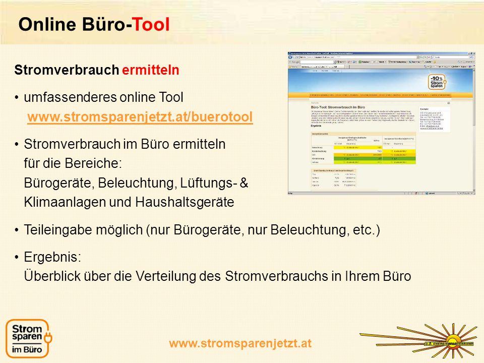 Online Büro-Tool Stromverbrauch ermitteln