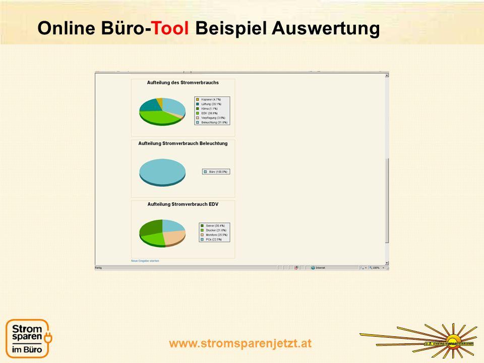 Online Büro-Tool Beispiel Auswertung