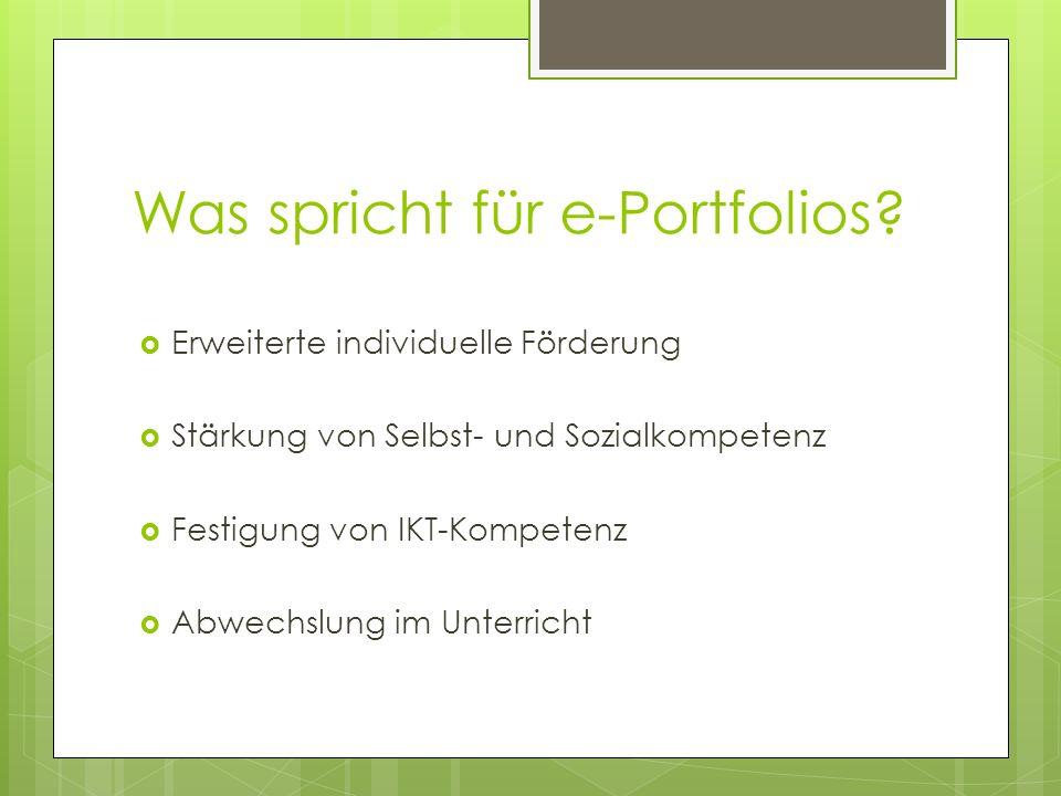Was spricht für e-Portfolios
