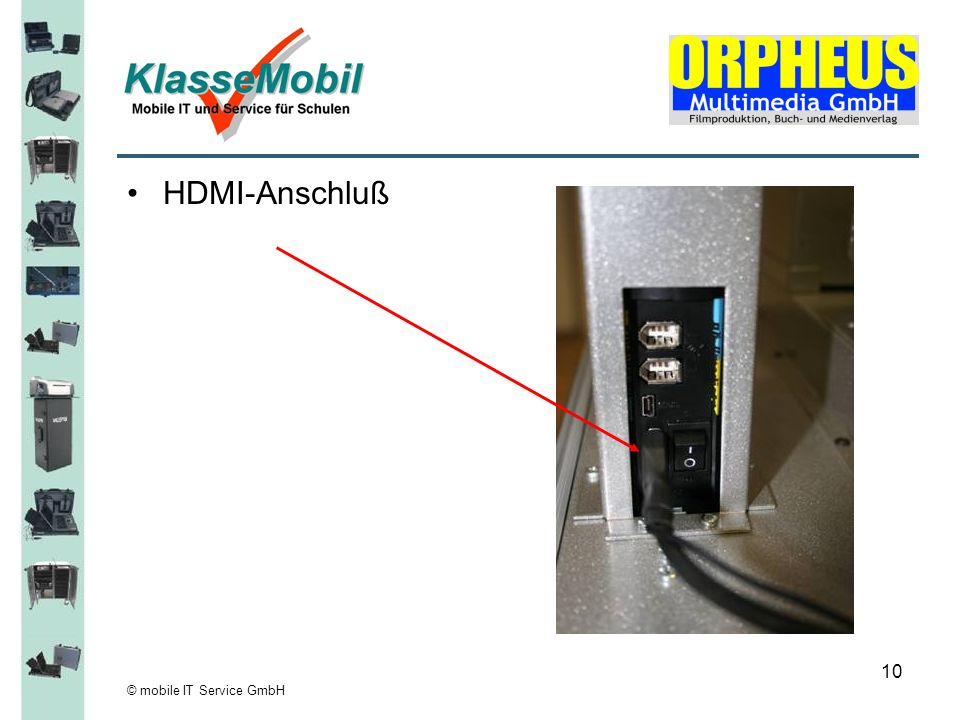 HDMI-Anschluß © mobile IT Service GmbH
