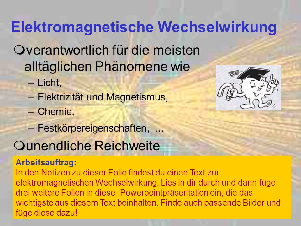 Elektromagnetische Wechselwirkung