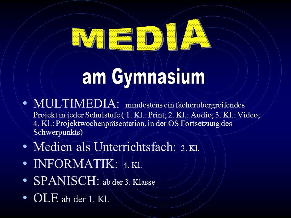 MEDIA am Gymnasium.