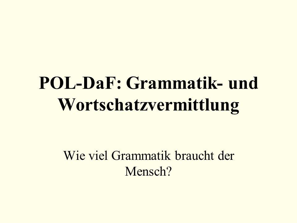 POL-DaF: Grammatik- und Wortschatzvermittlung