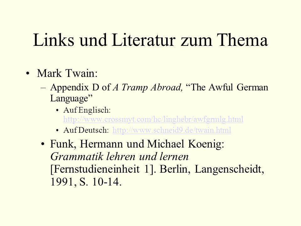 Links und Literatur zum Thema