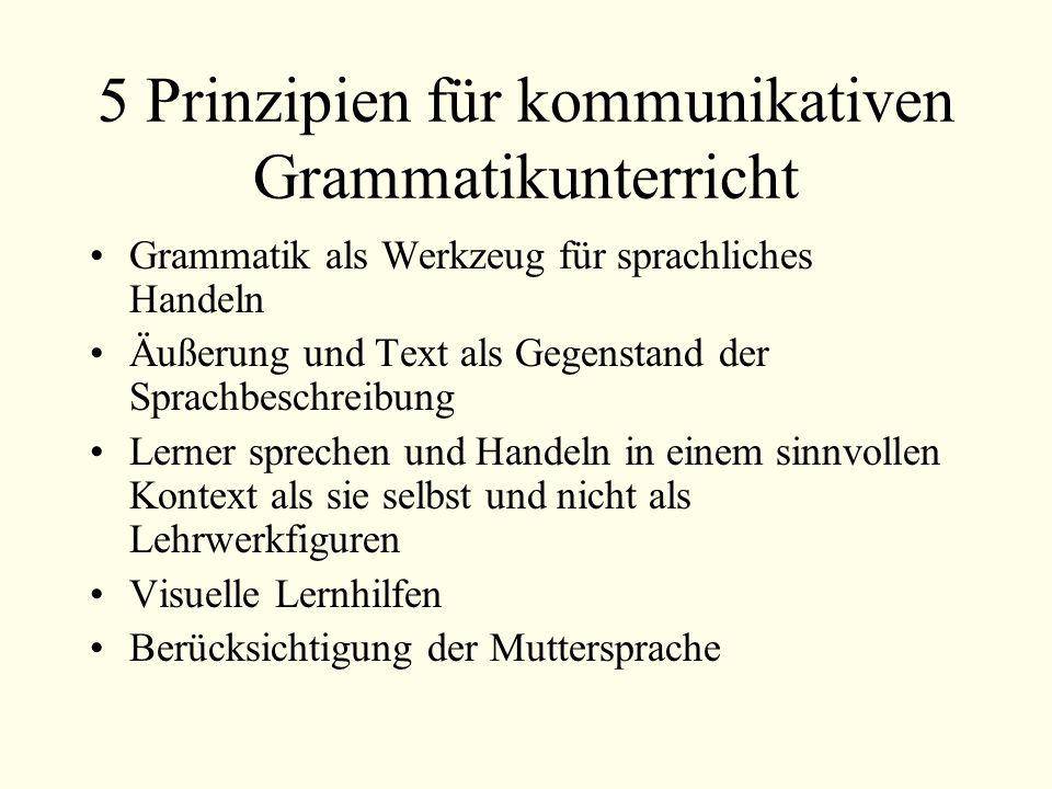5 Prinzipien für kommunikativen Grammatikunterricht