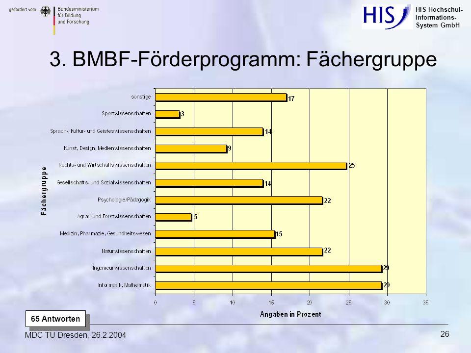 3. BMBF-Förderprogramm: Fächergruppe