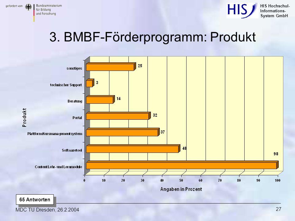 3. BMBF-Förderprogramm: Produkt