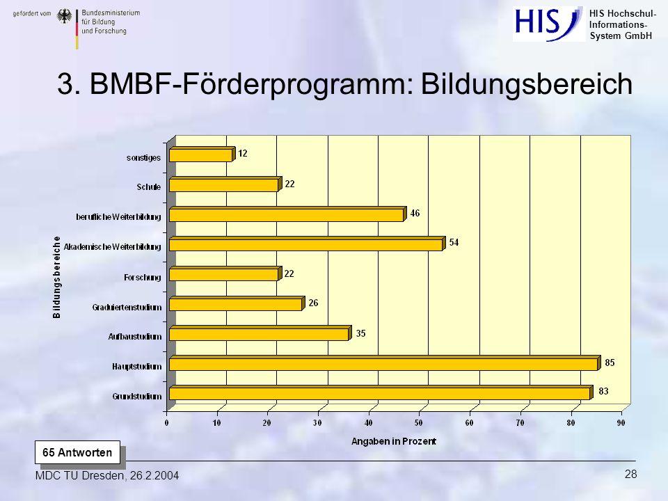 3. BMBF-Förderprogramm: Bildungsbereich