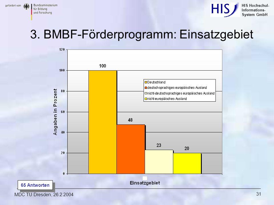 3. BMBF-Förderprogramm: Einsatzgebiet