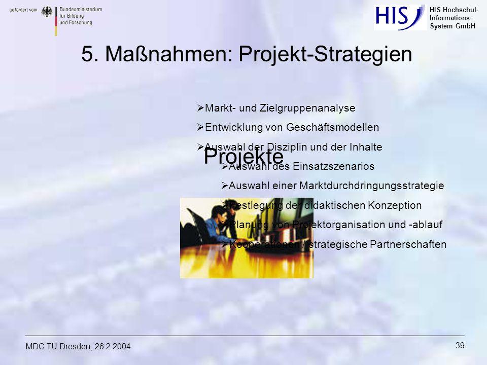 5. Maßnahmen: Projekt-Strategien