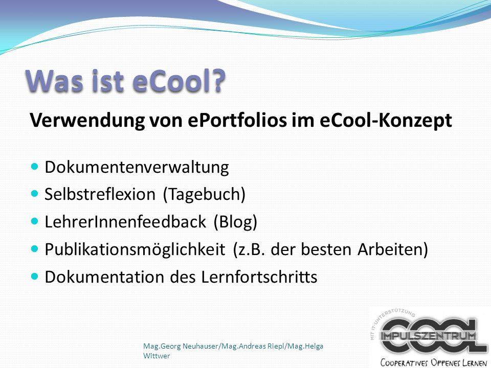 Was ist eCool Verwendung von ePortfolios im eCool-Konzept