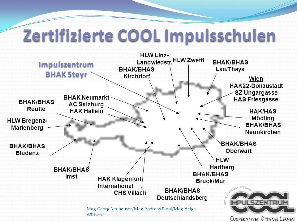 Zertifizierte COOL Impulsschulen