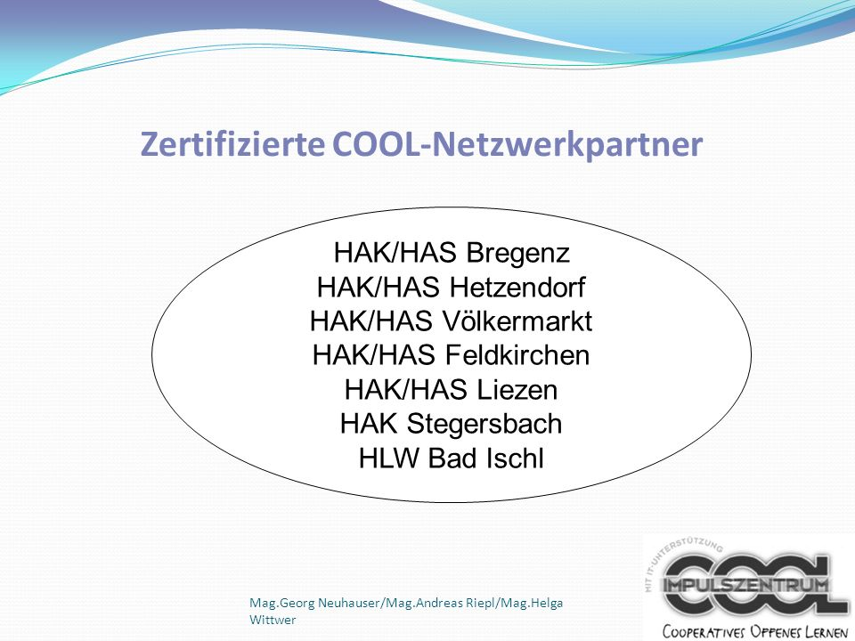 Zertifizierte COOL-Netzwerkpartner