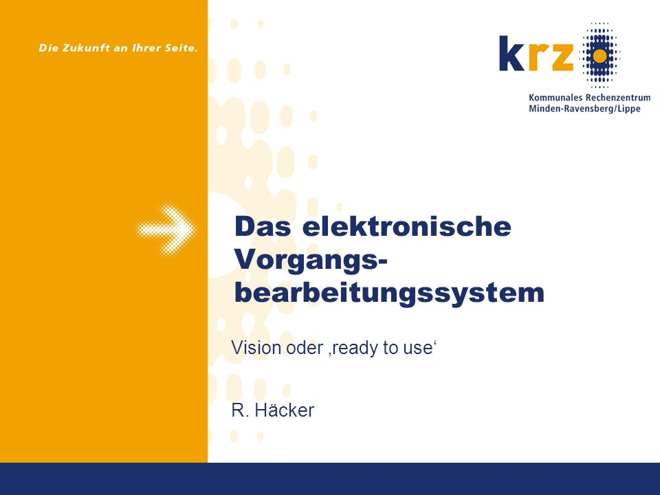 Das elektronische Vorgangs-bearbeitungssystem