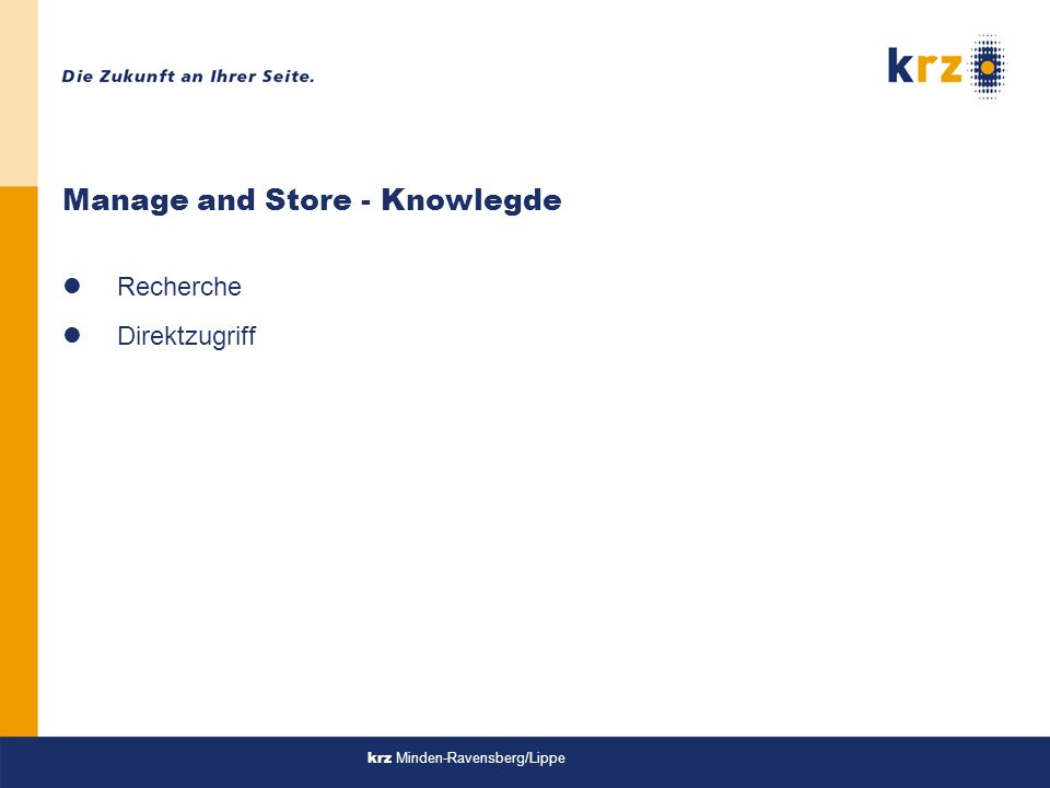 Manage and Store - Knowlegde