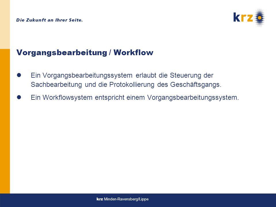Vorgangsbearbeitung / Workflow
