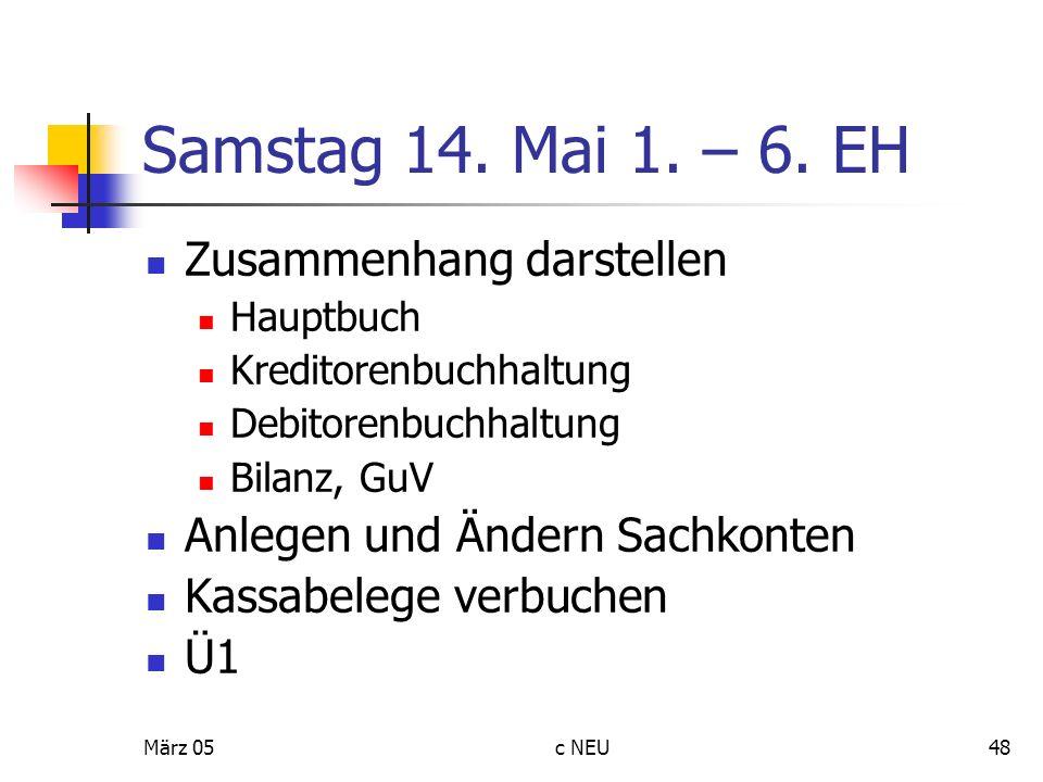 Samstag 14. Mai 1. – 6. EH Zusammenhang darstellen
