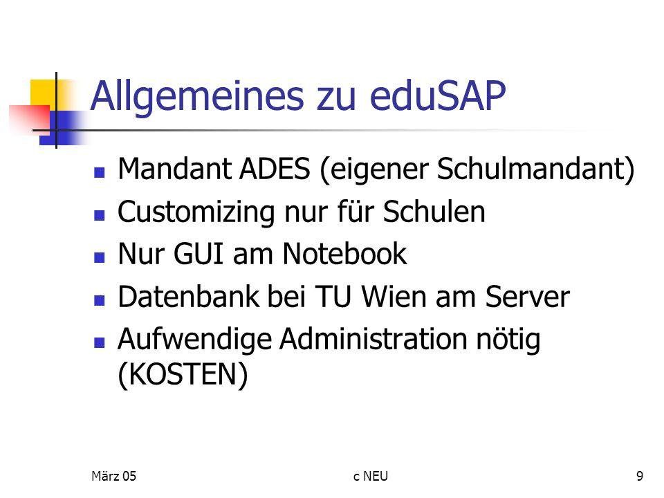 Allgemeines zu eduSAP Mandant ADES (eigener Schulmandant)