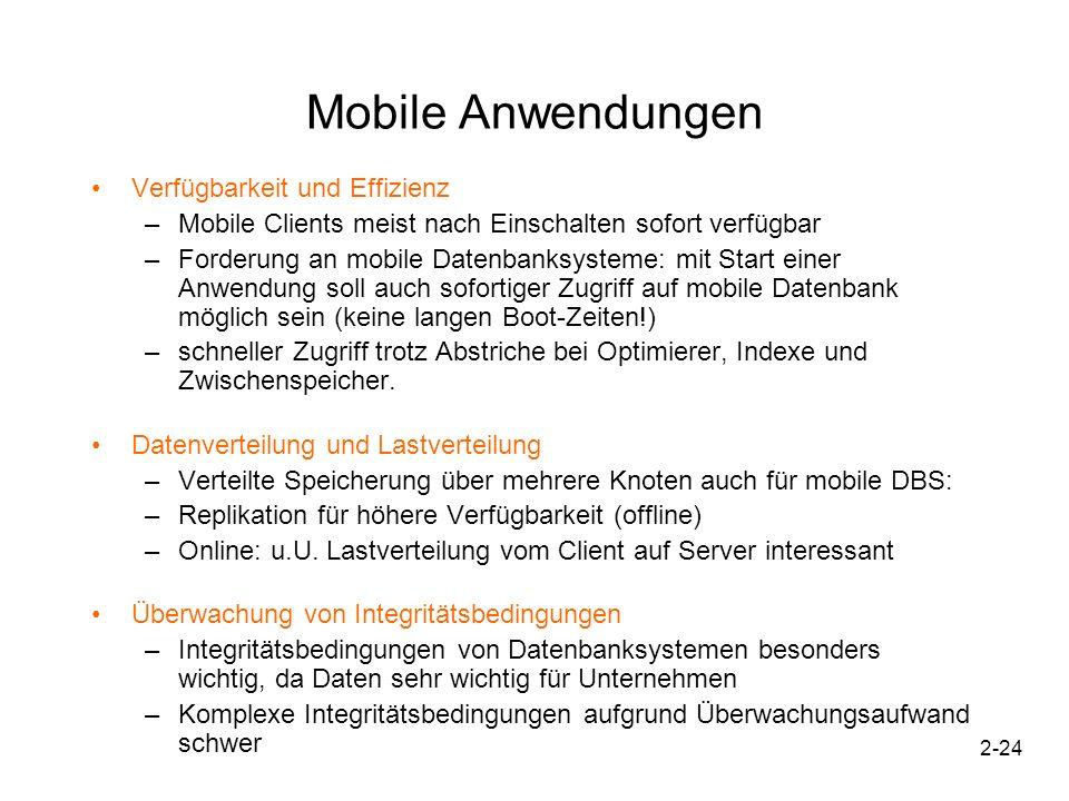 Mobile Anwendungen Verfügbarkeit und Effizienz