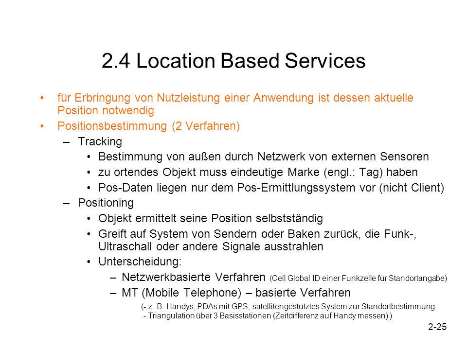 2.4 Location Based Services