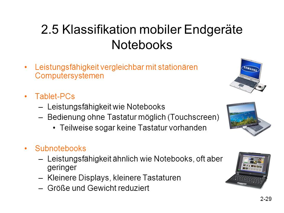 2.5 Klassifikation mobiler Endgeräte Notebooks