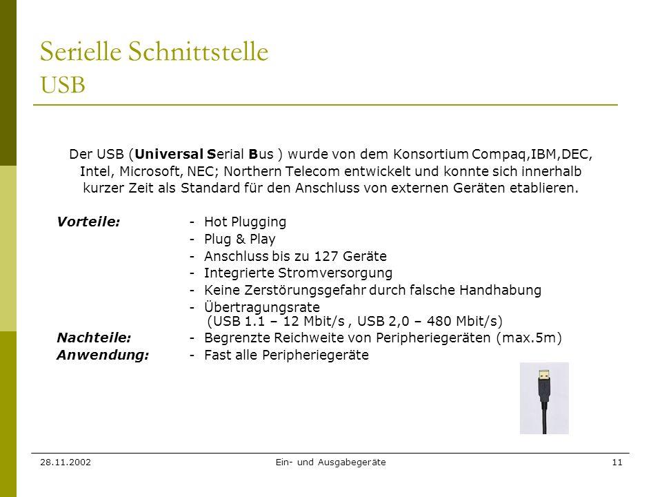 Serielle Schnittstelle USB
