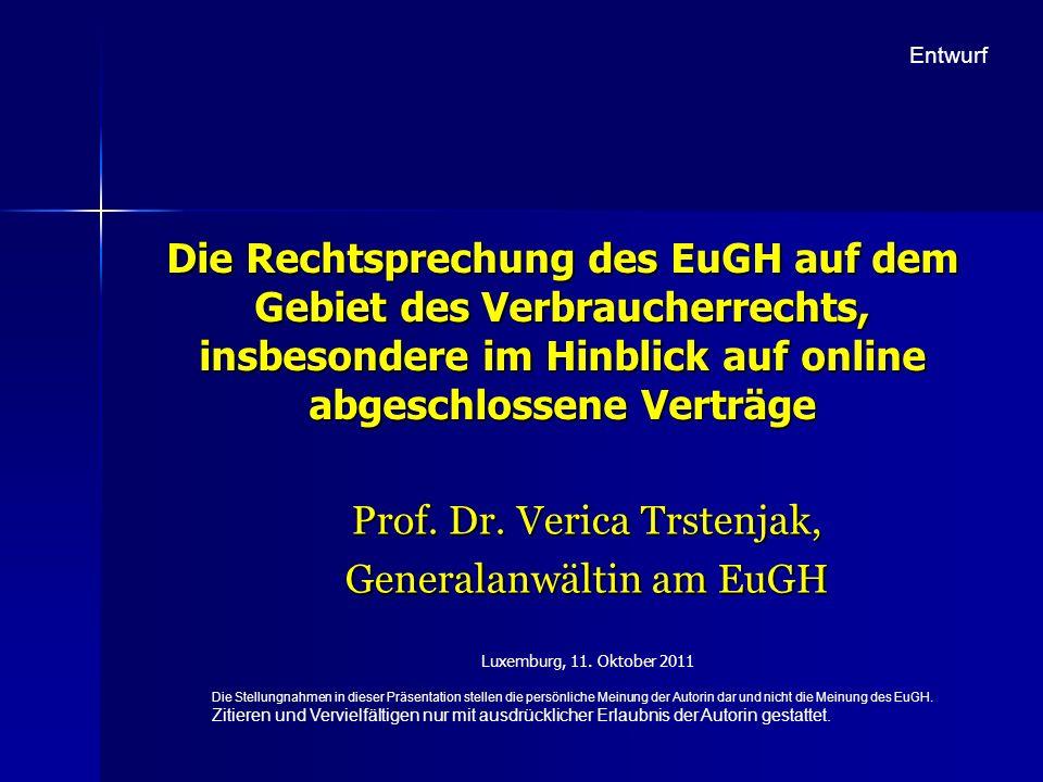 Prof. Dr. Verica Trstenjak, Generalanwältin am EuGH