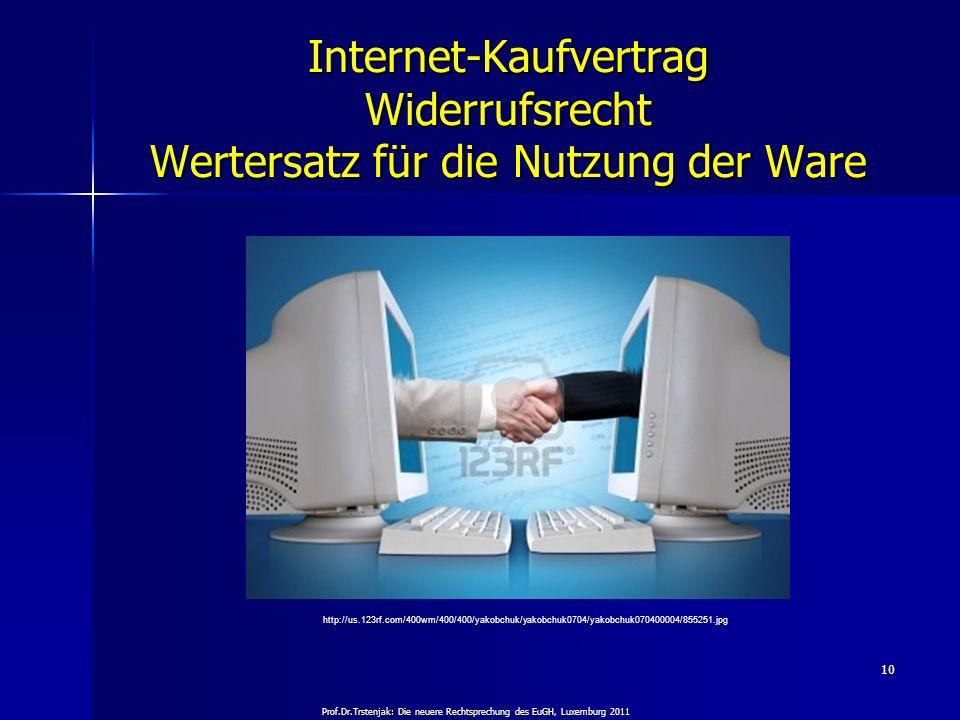 Prof.Dr.Trstenjak: Die neuere Rechtsprechung des EuGH, Luxemburg 2011