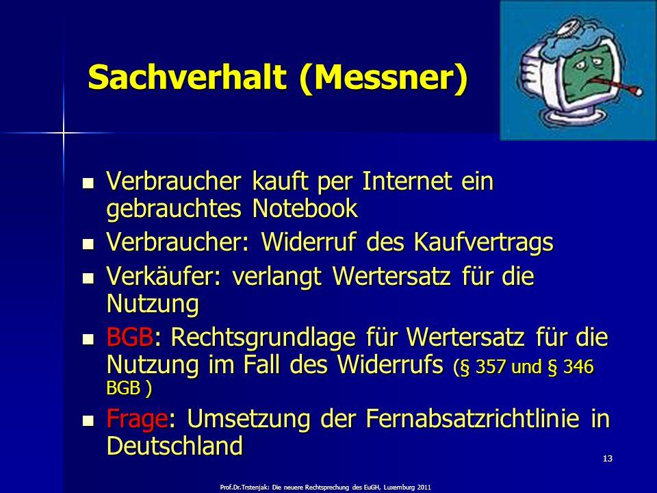 Sachverhalt (Messner)