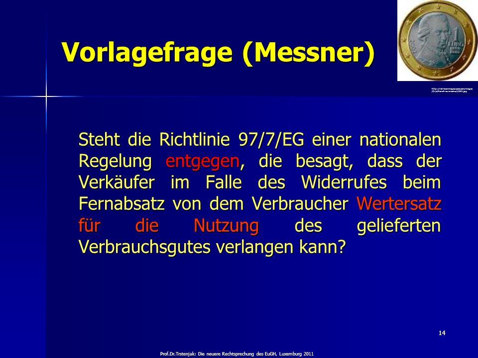 Vorlagefrage (Messner)